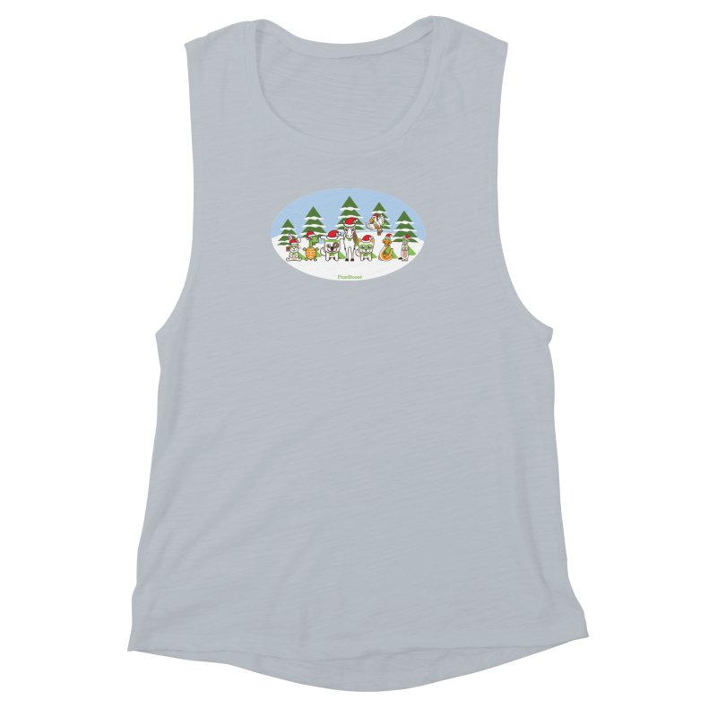 Rescue Squad (winter wonderland) Women's Muscle Tank by PawBoost's Shop