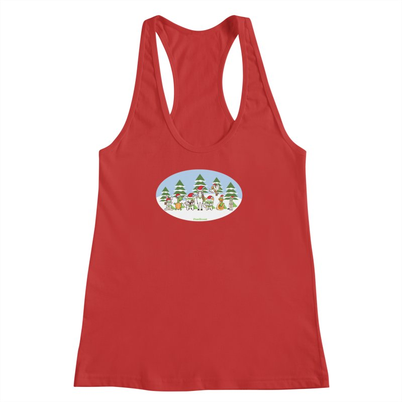 Rescue Squad (winter wonderland) Women's Racerback Tank by PawBoost's Shop