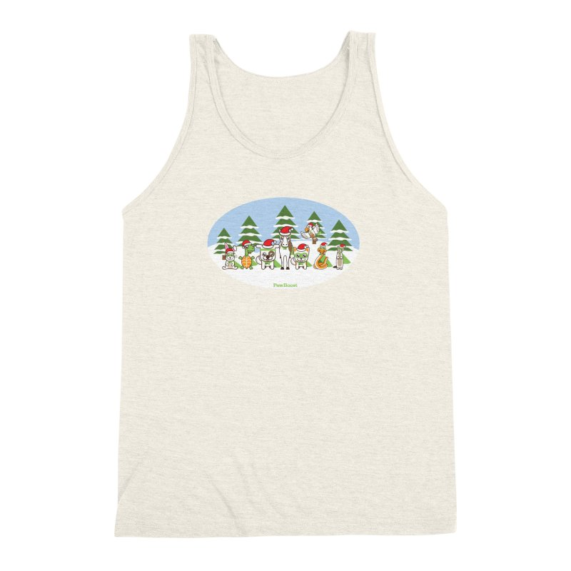 Rescue Squad (winter wonderland) Men's Triblend Tank by PawBoost's Shop