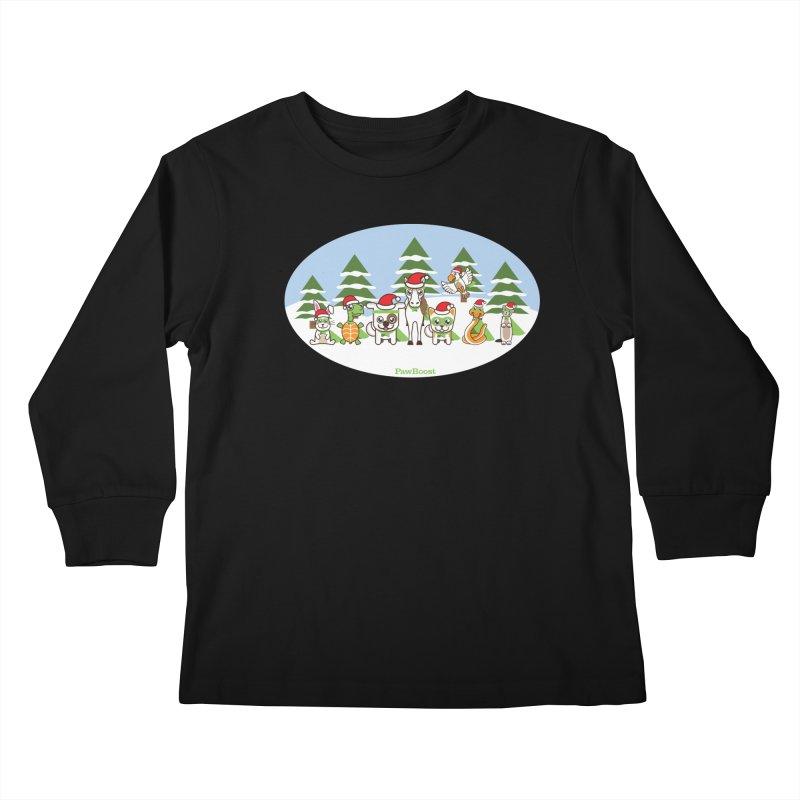 Rescue Squad (winter wonderland) Kids Longsleeve T-Shirt by PawBoost's Shop