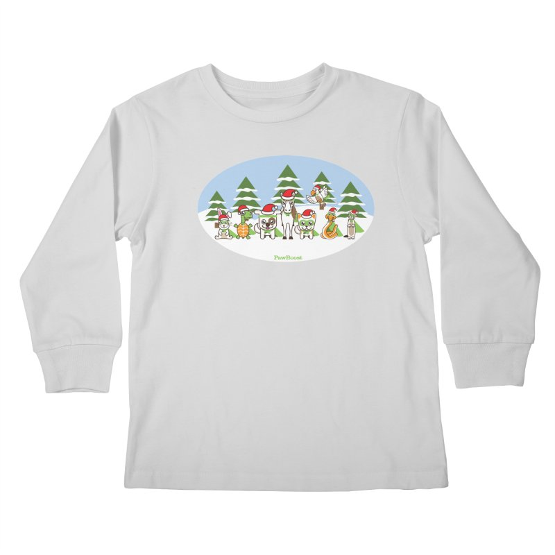 Rescue Squad (winter wonderland) Kids Longsleeve T-Shirt by PawBoost's Shop