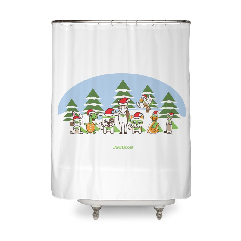 Rescue Squad (winter wonderland) Home Shower Curtain by PawBoost's Shop