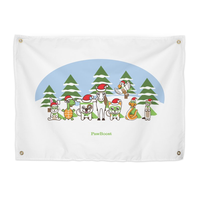 Rescue Squad (winter wonderland) Home Tapestry by PawBoost's Shop