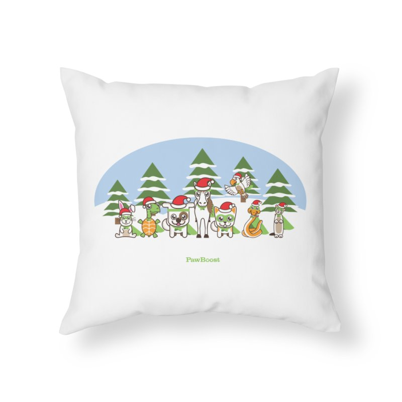 Rescue Squad (winter wonderland) Home Throw Pillow by PawBoost's Shop