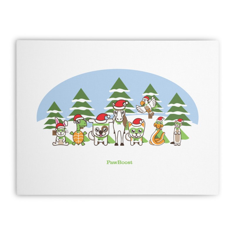 Rescue Squad (winter wonderland) Home Stretched Canvas by PawBoost's Shop