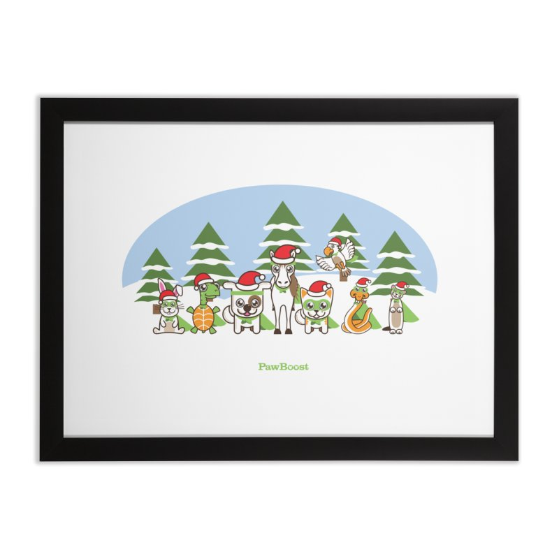 Rescue Squad (winter wonderland) Home Framed Fine Art Print by PawBoost's Shop