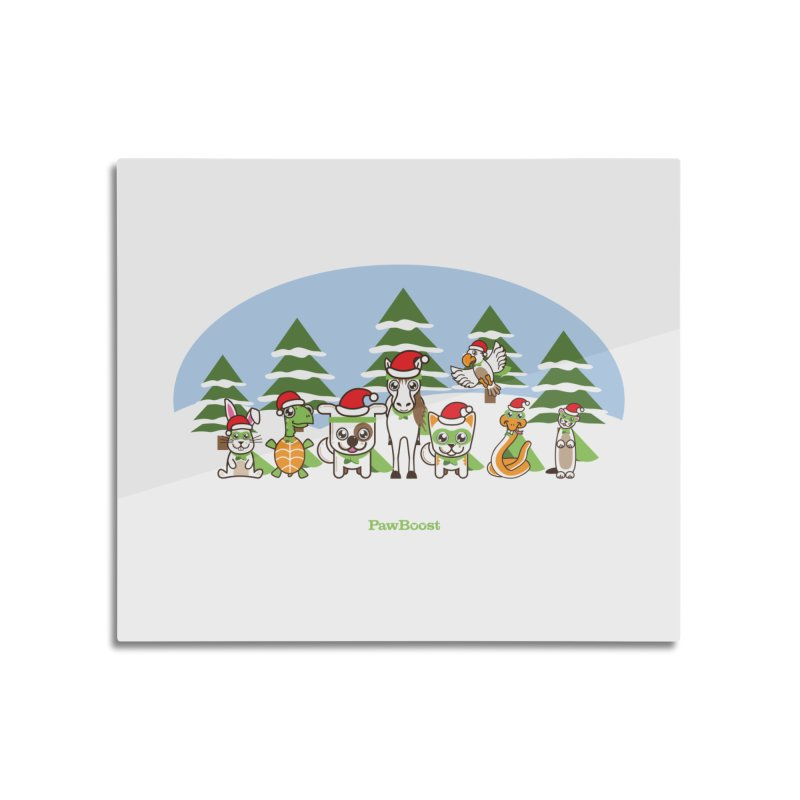 Rescue Squad (winter wonderland) Home Mounted Aluminum Print by PawBoost's Shop
