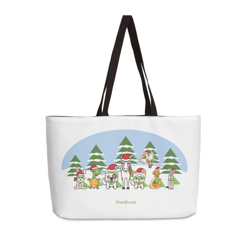 Rescue Squad (winter wonderland) Accessories Weekender Bag Bag by PawBoost's Shop
