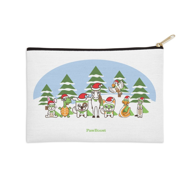 Rescue Squad (winter wonderland) Accessories Zip Pouch by PawBoost's Shop
