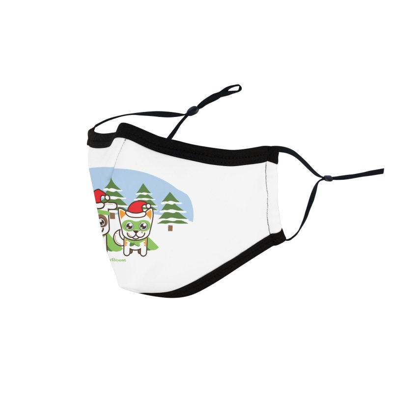 Toby & Moby (winter wonderland) Accessories Face Mask by PawBoost's Shop