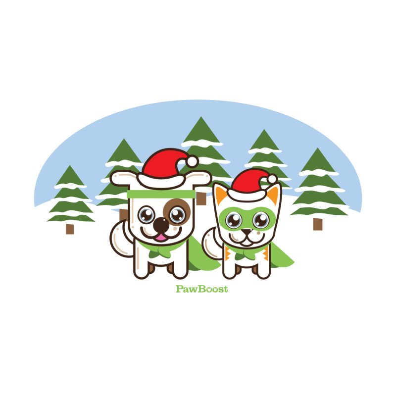 Toby & Moby (winter wonderland) Kids Baby Zip-Up Hoody by PawBoost's Shop