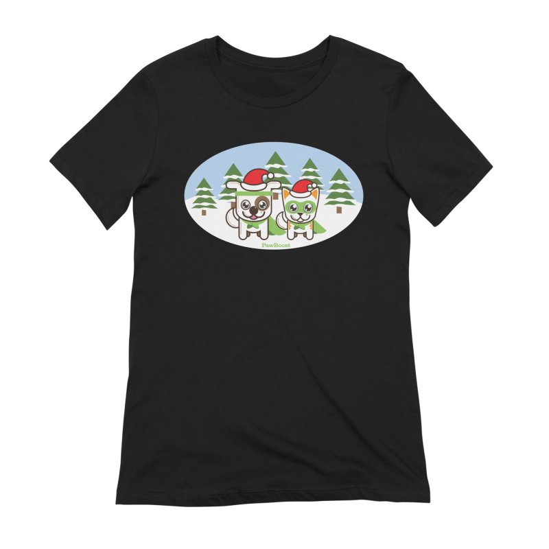 Toby & Moby (winter wonderland) Women's Extra Soft T-Shirt by PawBoost's Shop