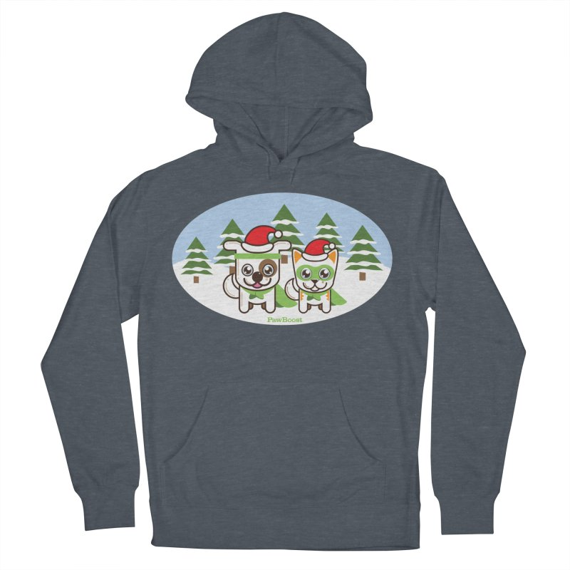 Toby & Moby (winter wonderland) Women's Pullover Hoody by PawBoost's Shop