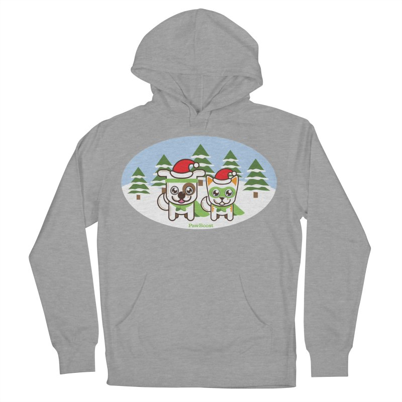 Toby & Moby (winter wonderland) Women's French Terry Pullover Hoody by PawBoost's Shop