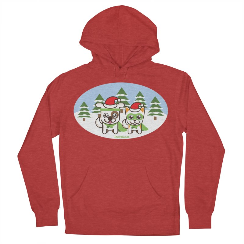 Toby & Moby (winter wonderland) Men's Pullover Hoody by PawBoost's Shop