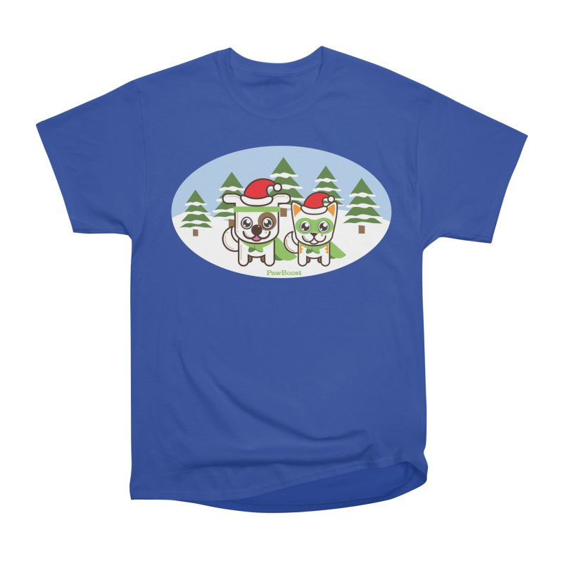 Toby & Moby (winter wonderland) Women's Heavyweight Unisex T-Shirt by PawBoost's Shop
