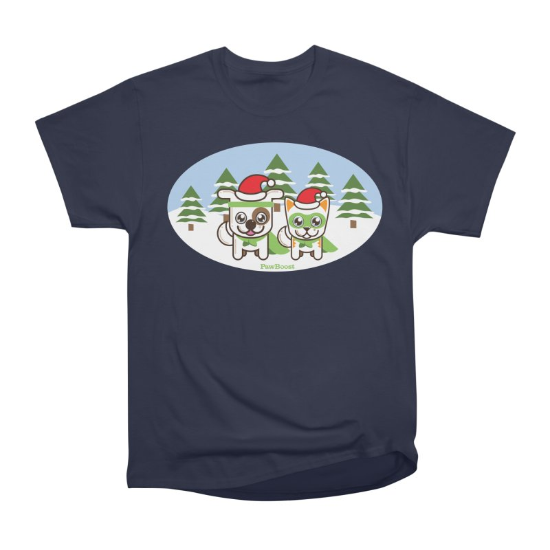 Toby & Moby (winter wonderland) Men's Classic T-Shirt by PawBoost's Shop