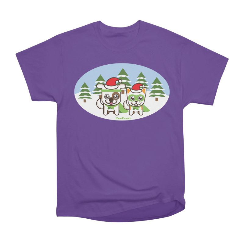 Toby & Moby (winter wonderland) Women's Heavyweight Unisex T-Shirt by PawBoost's Shop