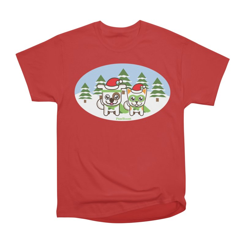 Toby & Moby (winter wonderland) Men's Heavyweight T-Shirt by PawBoost's Shop