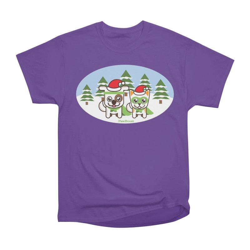 Toby & Moby (winter wonderland) Men's Heavyweight T-Shirt by PawBoost's Shop