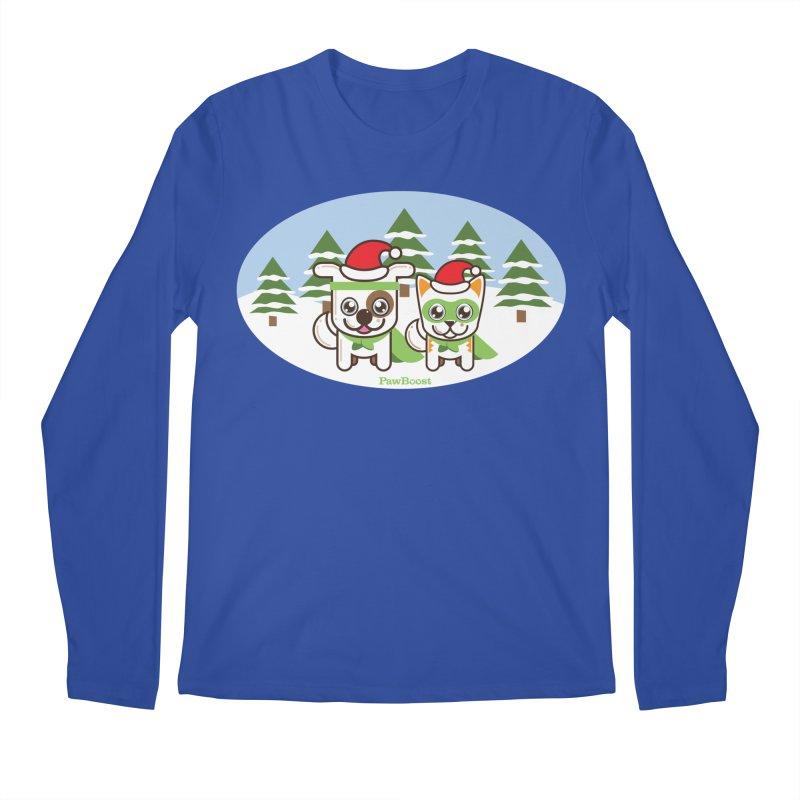 Toby & Moby (winter wonderland) Men's Regular Longsleeve T-Shirt by PawBoost's Shop