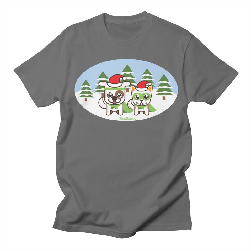 Toby & Moby (winter wonderland) Men's T-Shirt by PawBoost's Shop