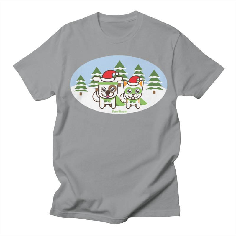 Toby & Moby (winter wonderland) Women's Unisex T-Shirt by PawBoost's Shop
