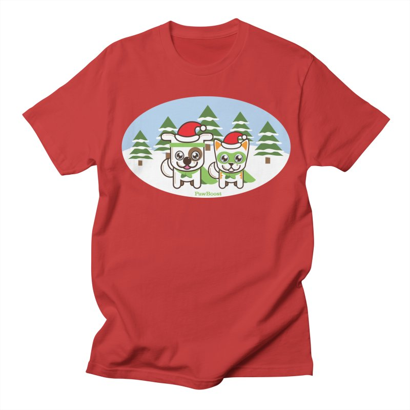 Toby & Moby (winter wonderland) Women's Unisex T-Shirt by PawBoost's Shop