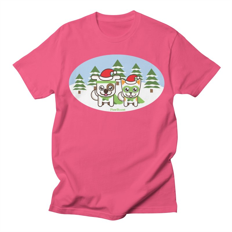 Toby & Moby (winter wonderland) Women's Regular Unisex T-Shirt by PawBoost's Shop