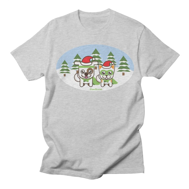 Toby & Moby (winter wonderland) Women's Regular Unisex T-Shirt by PawBoost's Shop