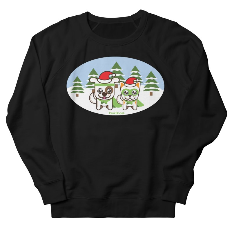 Toby & Moby (winter wonderland) Men's French Terry Sweatshirt by PawBoost's Shop