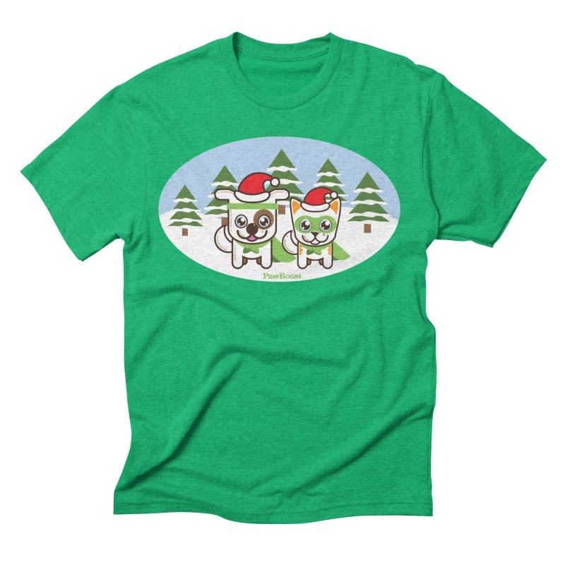 Toby & Moby (winter wonderland) Men's Triblend T-Shirt by PawBoost's Shop