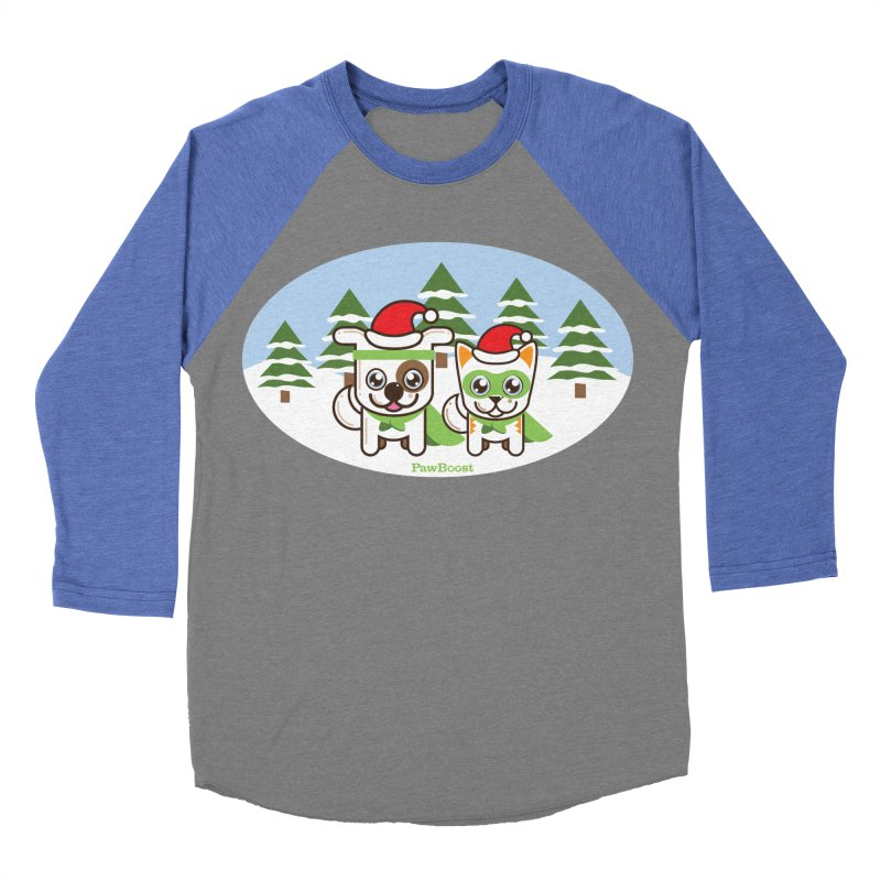 Toby & Moby (winter wonderland) Women's Baseball Triblend T-Shirt by PawBoost's Shop