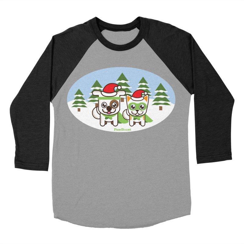 Toby & Moby (winter wonderland) Women's Baseball Triblend T-Shirt by PawBoost's Shop