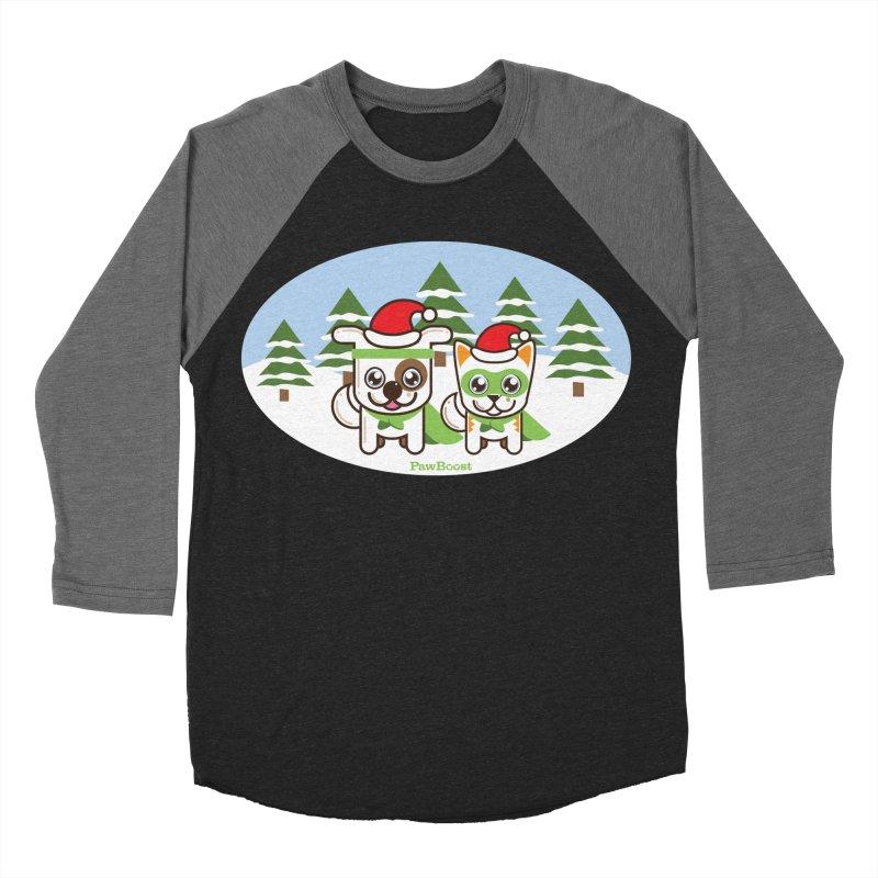 Toby & Moby (winter wonderland) Men's Baseball Triblend Longsleeve T-Shirt by PawBoost's Shop