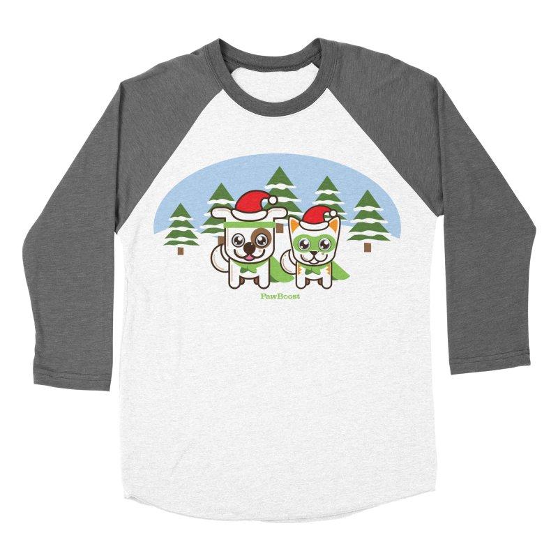 Toby & Moby (winter wonderland) Men's Baseball Triblend T-Shirt by PawBoost's Shop