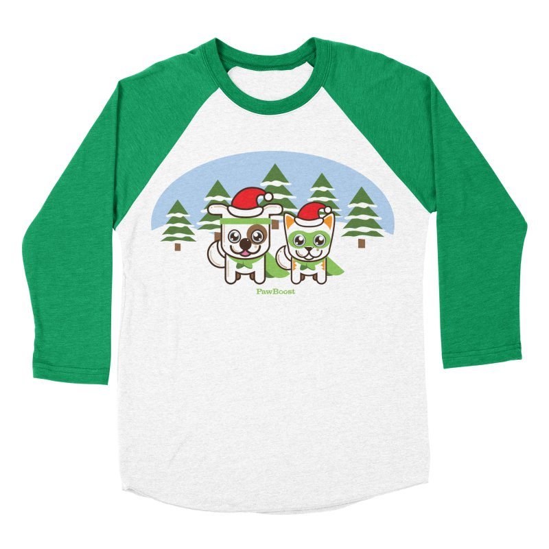 Toby & Moby (winter wonderland) Men's Baseball Triblend T-Shirt by PawBoost's Shop