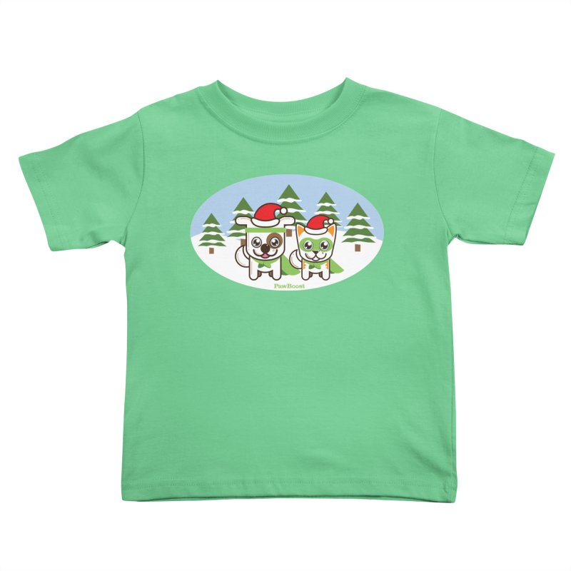 Toby & Moby (winter wonderland) Kids Toddler T-Shirt by PawBoost's Shop