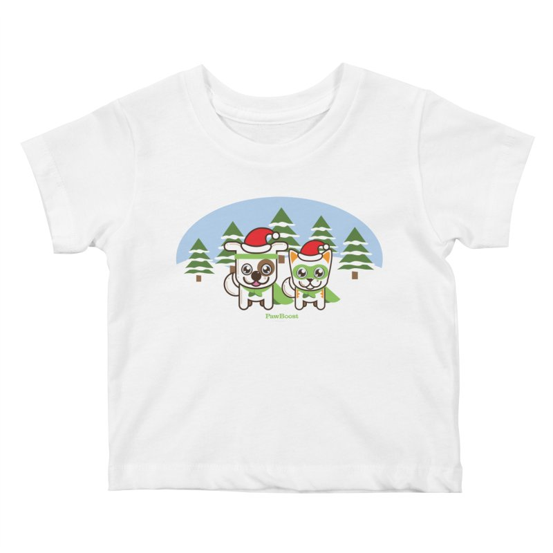 Toby & Moby (winter wonderland) Kids Baby T-Shirt by PawBoost's Shop