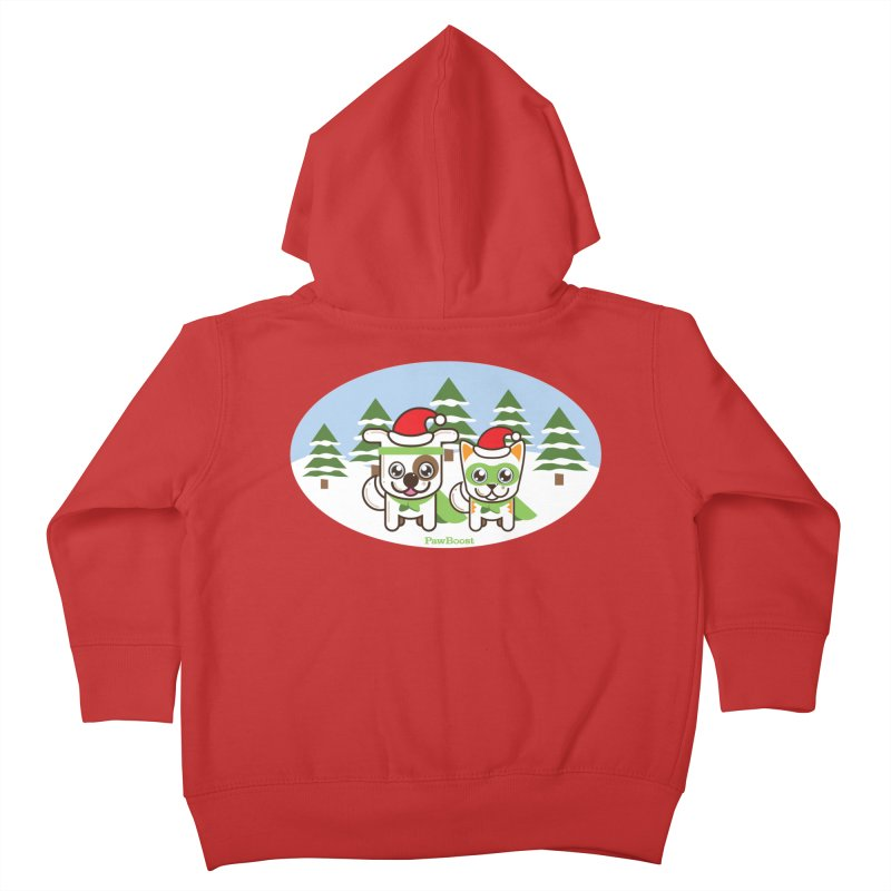 Toby & Moby (winter wonderland) Kids Toddler Zip-Up Hoody by PawBoost's Shop
