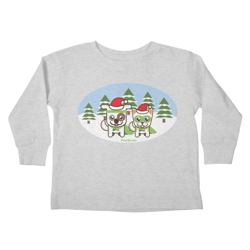 Toby & Moby (winter wonderland) Kids Toddler Longsleeve T-Shirt by PawBoost's Shop