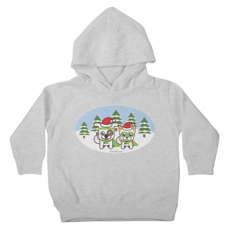 Toby & Moby (winter wonderland) Kids Toddler Pullover Hoody by PawBoost's Shop