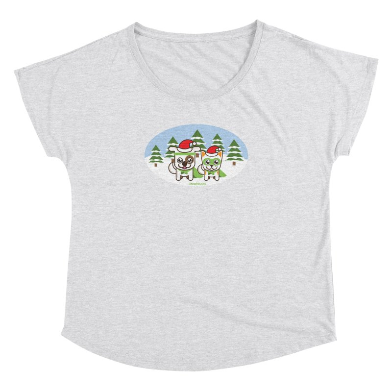 Toby & Moby (winter wonderland) Women's Dolman by PawBoost's Shop