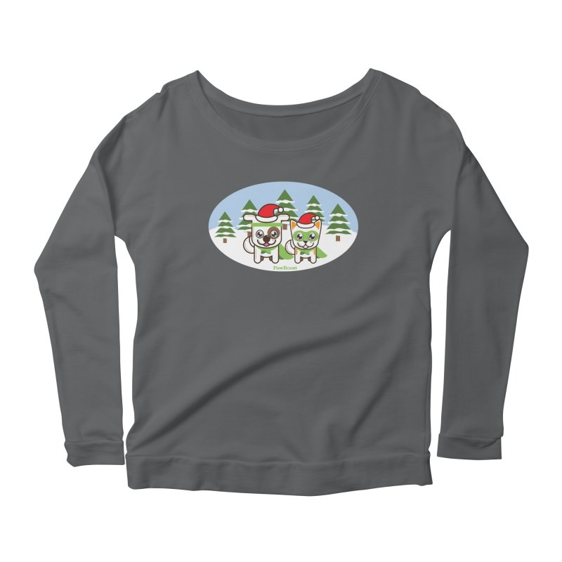 Toby & Moby (winter wonderland) Women's Longsleeve T-Shirt by PawBoost's Shop