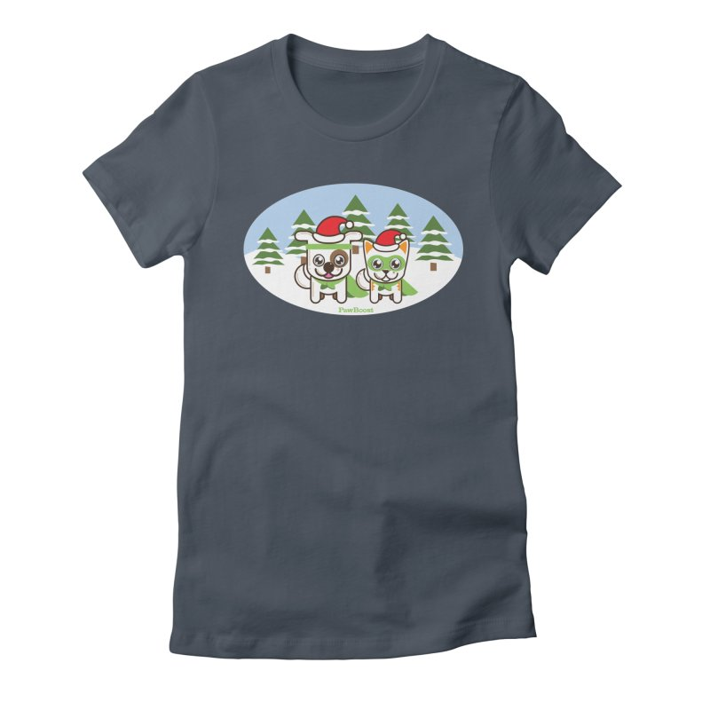 Toby & Moby (winter wonderland) Women's T-Shirt by PawBoost's Shop