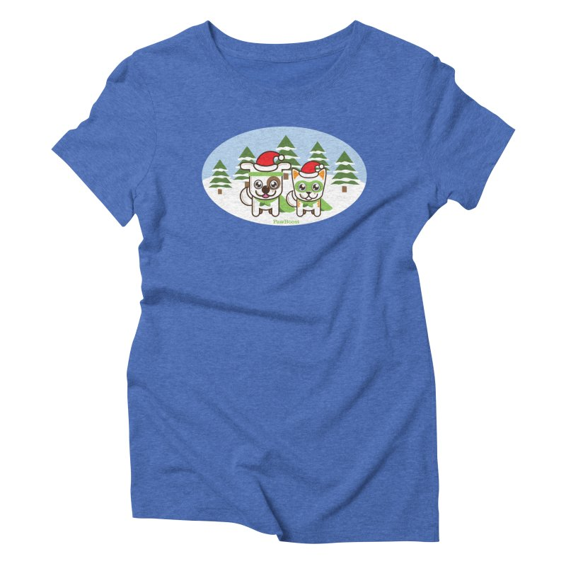 Toby & Moby (winter wonderland) Women's Triblend T-Shirt by PawBoost's Shop