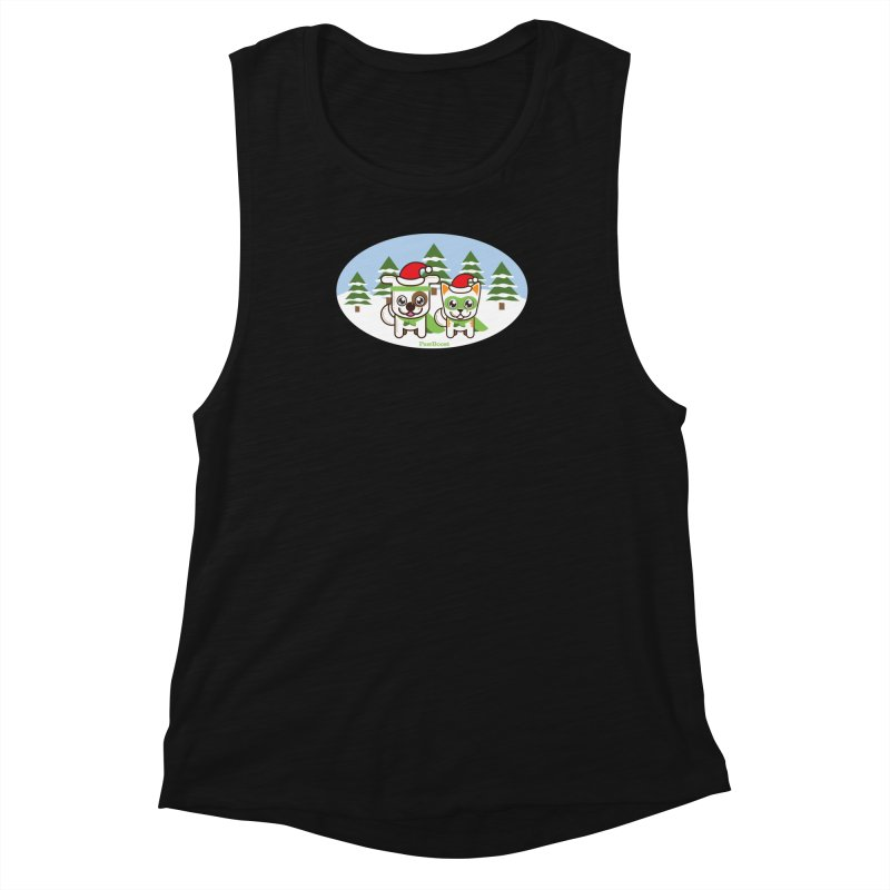 Toby & Moby (winter wonderland) Women's Tank by PawBoost's Shop
