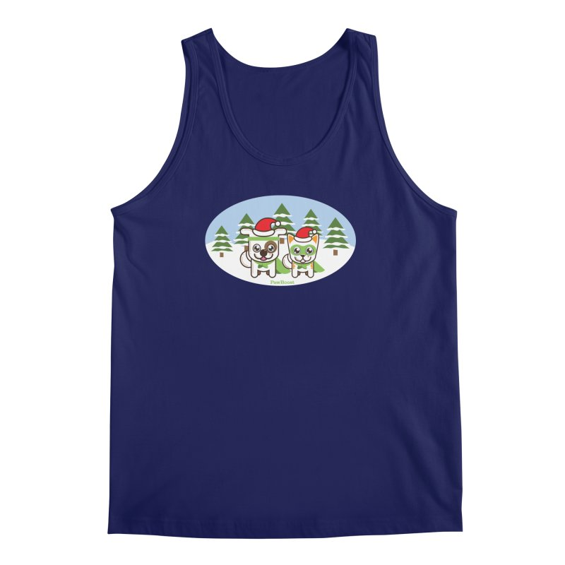 Toby & Moby (winter wonderland) Men's Regular Tank by PawBoost's Shop