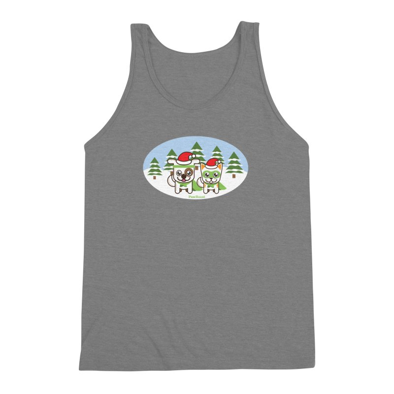 Toby & Moby (winter wonderland) Men's Triblend Tank by PawBoost's Shop