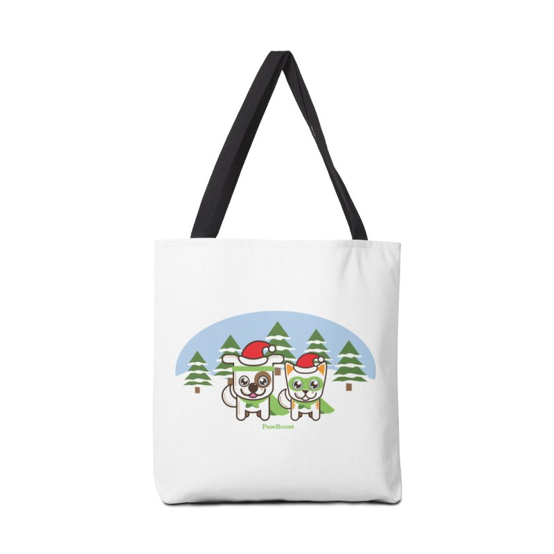 Toby & Moby (winter wonderland) Accessories Tote Bag Bag by PawBoost's Shop